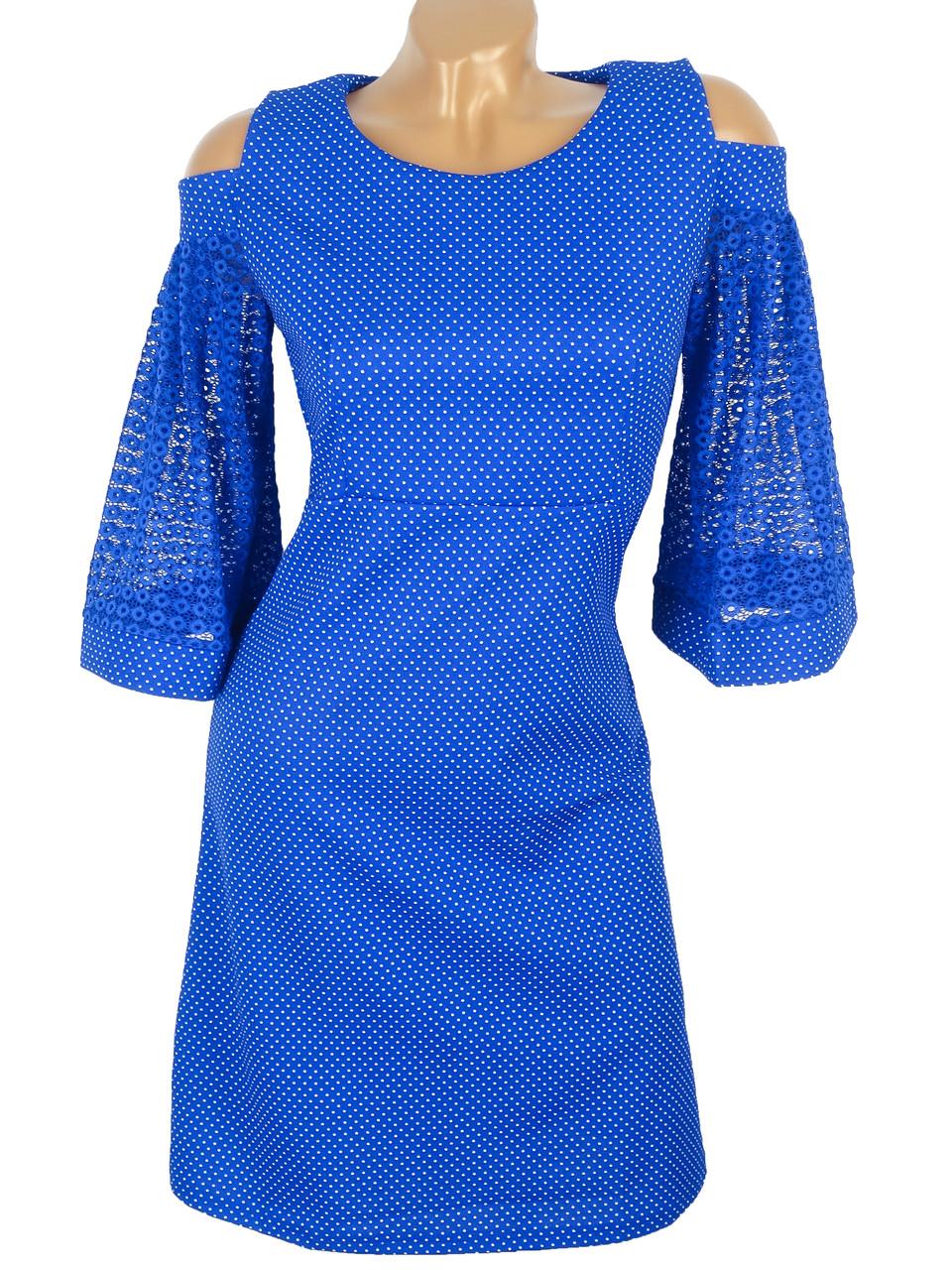 Демисезонное платье с рукавами-клёш 44-50 (в расцветках)