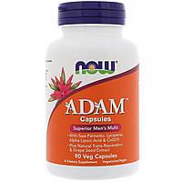 Адам вітаміни для чоловіків, Adam Superior men's Multi, 90 капсул, Now Foods