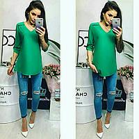 Блузка женская, модель 775, зеленая изумруд, фото 1