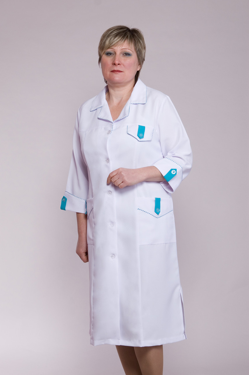 Женский медицинский халат Г-1103 ( габардин 48-64 р-р)