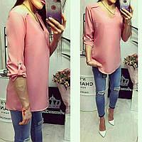 Блузка женская, модель 775, розовая пудра, фото 1