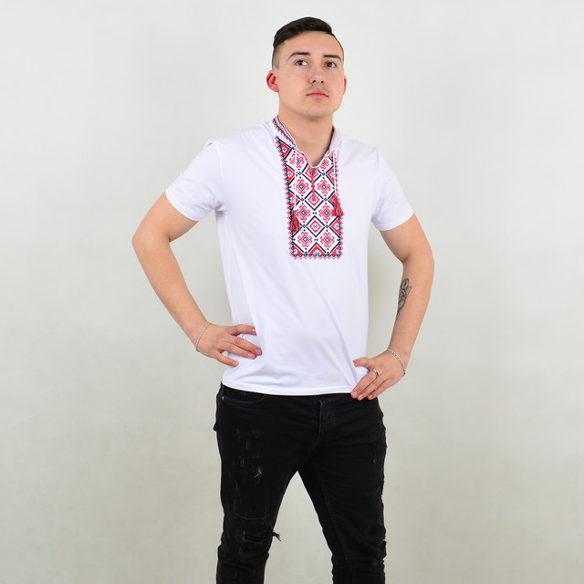Чоловіча вишиванка футболка - opt123.com.ua 98f8cc0143053