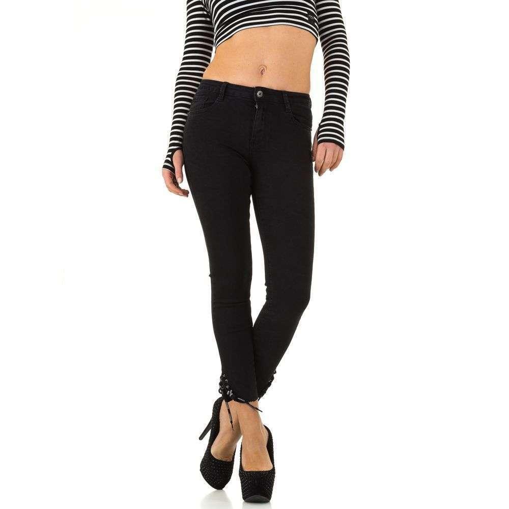 894f1e9d1406 Женские джинсы со шнуровкой внизу Blue Rags (Франция), Черный купить оптом  в Украине - ...