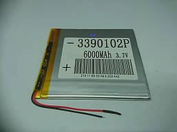 Аккумулятор литий-полимерный 3390102P 3.7V 6000mAh