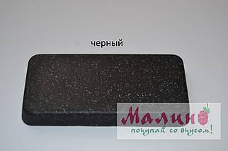 Черная гранитная мойка 59*50 см ADAMANT PRIZMA Черный, фото 3