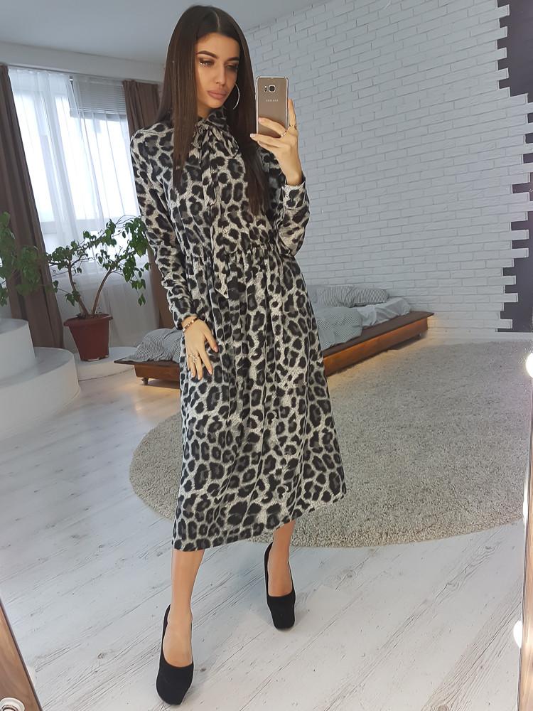 8c9c8afe188 Платье миди в леопардовый принт с завязкой на шее - Alexa в Харькове