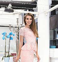 Костюм женский блузка и юбка баска гипюр длинна 1 метр купить 42 44 46 48 50 Р, фото 1
