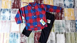 Стильный костюм двойка на мальчика 1-4  года рубашка и джинсы весна-осень  , фото 3