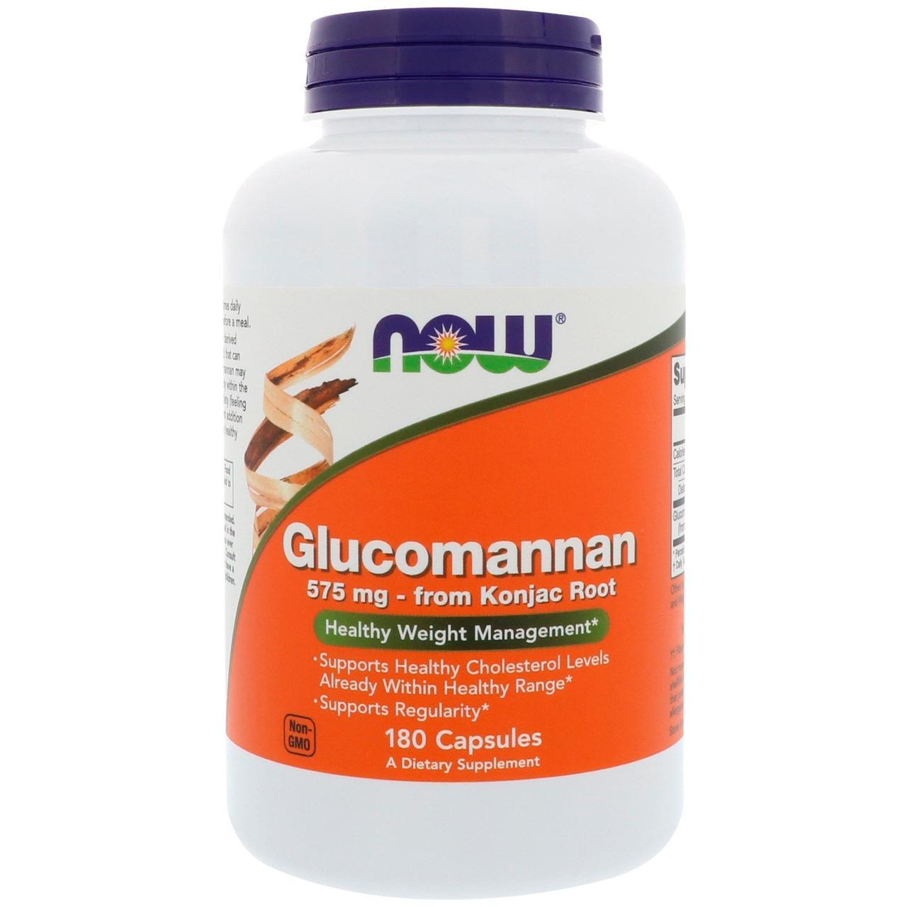 Глюкоманнан, Now Foods, 575 мг, 180 капсул