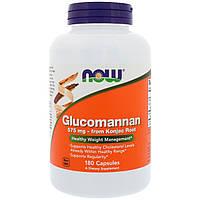 Глюкоманнан, Now Foods, 575 мг, 180 капсул, фото 1