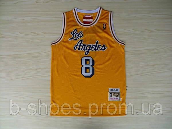 Мужская баскетбольная майка Los Angeles Lakers Retro (Kobe Bryant) Yellow