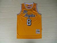 Мужская баскетбольная майка Los Angeles Lakers Retro (Kobe Bryant) Yellow, фото 1