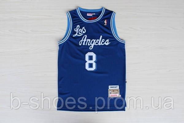 Мужская баскетбольная майка Los Angeles Lakers Retro (Kobe Bryant) Blue