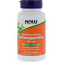 Ашваганда, Now Foods, 450 мг, 90 капсул, фото 1