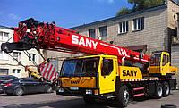 """Аренда автокрана """"SANY"""" . Грузоподъемность 25 тонн. Длина стрелы с гуськом 41,5 метров"""