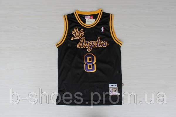 Мужская баскетбольная майка Los Angeles Lakers Retro (Kobe Bryant) Black
