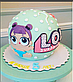 Вафельная картинка на торт  кукла лол, фото 7