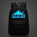 Рюкзак Fortnite с люминесцентной надписью чёрный Фортнайт, фото 2
