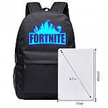 Рюкзак Fortnite с люминесцентной надписью чёрный Фортнайт, фото 5