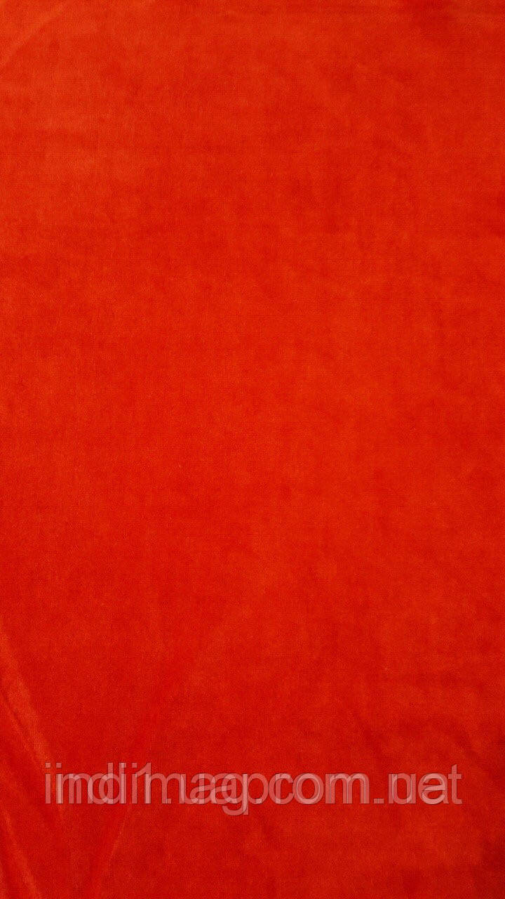 Велюр красный хлопок  ринг