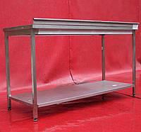 Стол производственный с бортом и полкой 1500х600х850 Б/у , фото 1