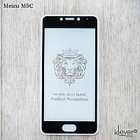Защитное стекло 2,5D Full Glue для Meizu M5C (black) (клеится всей поверхностью (5D))