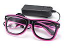 Очки светодиодные  прозрачные El Neon ray pink неоновые, фото 3