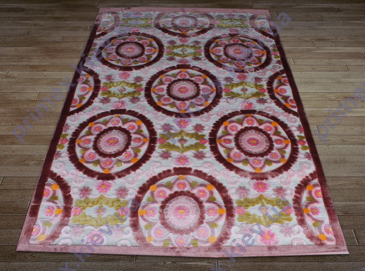 Акриловий рельєфний килим Bonita (Туреччина) великі квіти яскравий