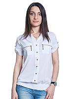 Легкая блуза из шифона с коротким рукавом, фото 1