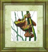 Набор для вышивки крестом «Лягушка»
