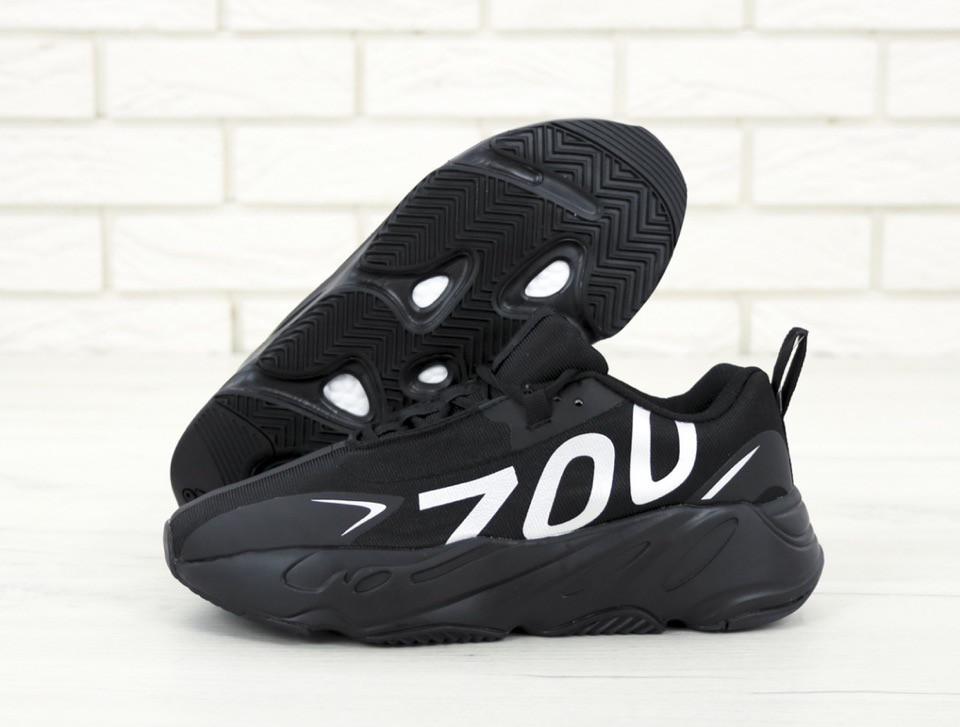 3a0b6080 Кроссовки мужские Adidas Yeezy Boost 700 реплика ААА+, размер 41-45 черный (