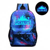 Рюкзак Fortnite с люминесцентной надписью космос Фортнайт
