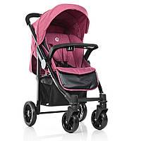 Прогулочная коляска для девочки. Цвет розовый.