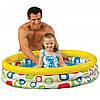 """Детский надувной бассейн INTEX 59419 """"Геометрические фигуры"""" 3 кольца 114-25 см, 132 л Точная цена, звоните!"""
