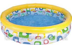 """Детский надувной бассейн INTEX 59419 """"Геометрические фигуры"""" 3 кольца 114-25 см, 132 л Точная цена, звоните!, фото 2"""