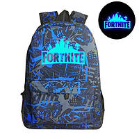 Рюкзак Fortnite с люминесцентной надписью хаки с синим Фортнайт