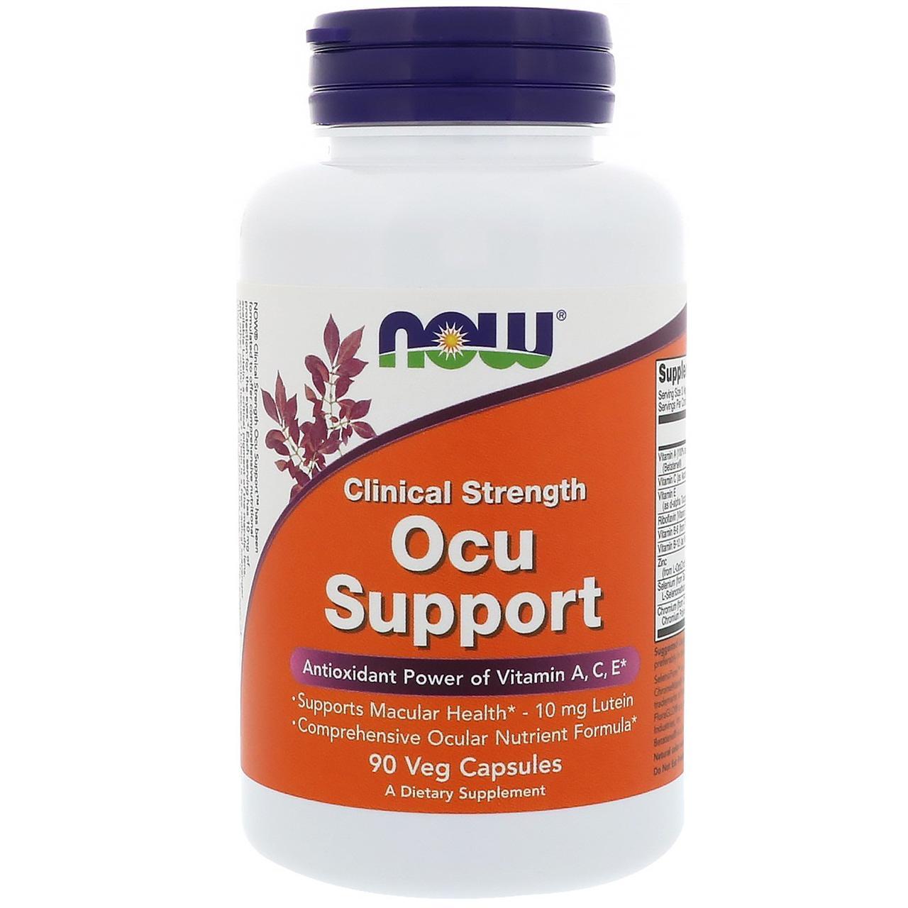 Вітаміни для зору Ocu Support, Now Foods, 90 капсул