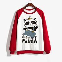 Джемпер  BABY PANDA  детский красно-белый