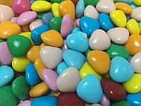 Драже молочный шоколад цветные сердца