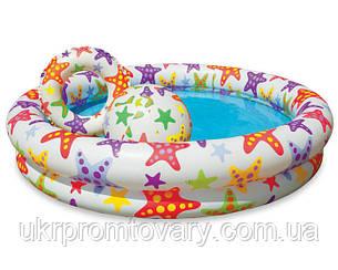 Детский надувной бассейн INTEX 59460 2 кольца, цветной с набором 122-25 см Точная цена, звоните!, фото 2