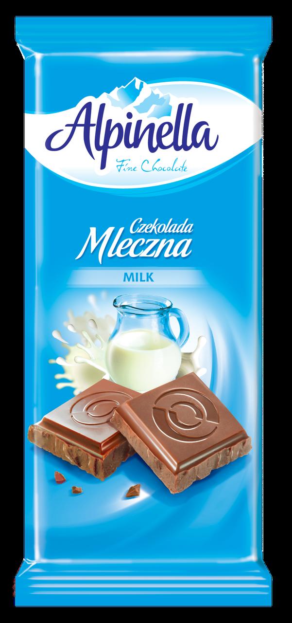 """Шоколад """"Alpinella"""", ( молочный Альпинелла), Польша, 90г"""