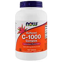 Витамин C - 1000, Buffered C, Now Foods, 180 таблеток, фото 1