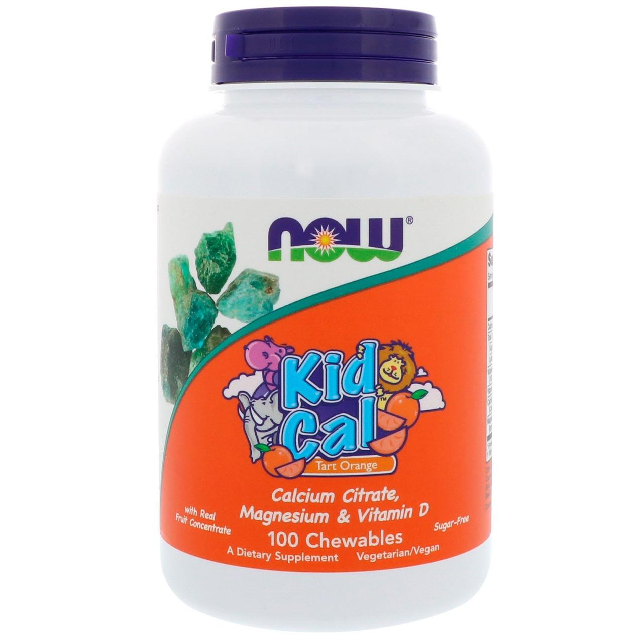 Жевательный кальций, Kid Cal, Now Foods, 100 таблеток