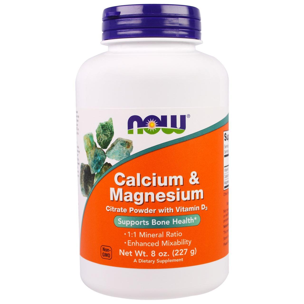 Кальций и магний, Calcium & Magnesium, Now Foods, 1:1, 227 г