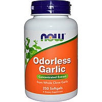 Чеснок, экстракт, Odorless Garlic, Now Foods, 250 капсул