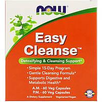 Детокс легкое очищение, Easy Cleanse, Now Foods, 60+60 капсул (2 бут.), фото 1