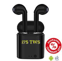 Беспроводные Bluetooth наушники i7S TWS Apple AirPods с кейсом для зарядки Box TWS i7S копия Apple Air Pods