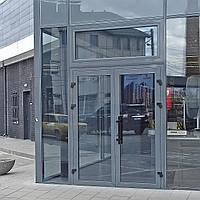 Входные двери из тёплого алюминиевого профиля