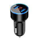 USB-зарядний пристрій авто, вольтметр, амперметр 3 в 1, фото 7