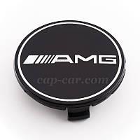 Колпачки для литых дисков Mercedes AMG черный